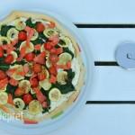 pizza met ricotta en spinazie