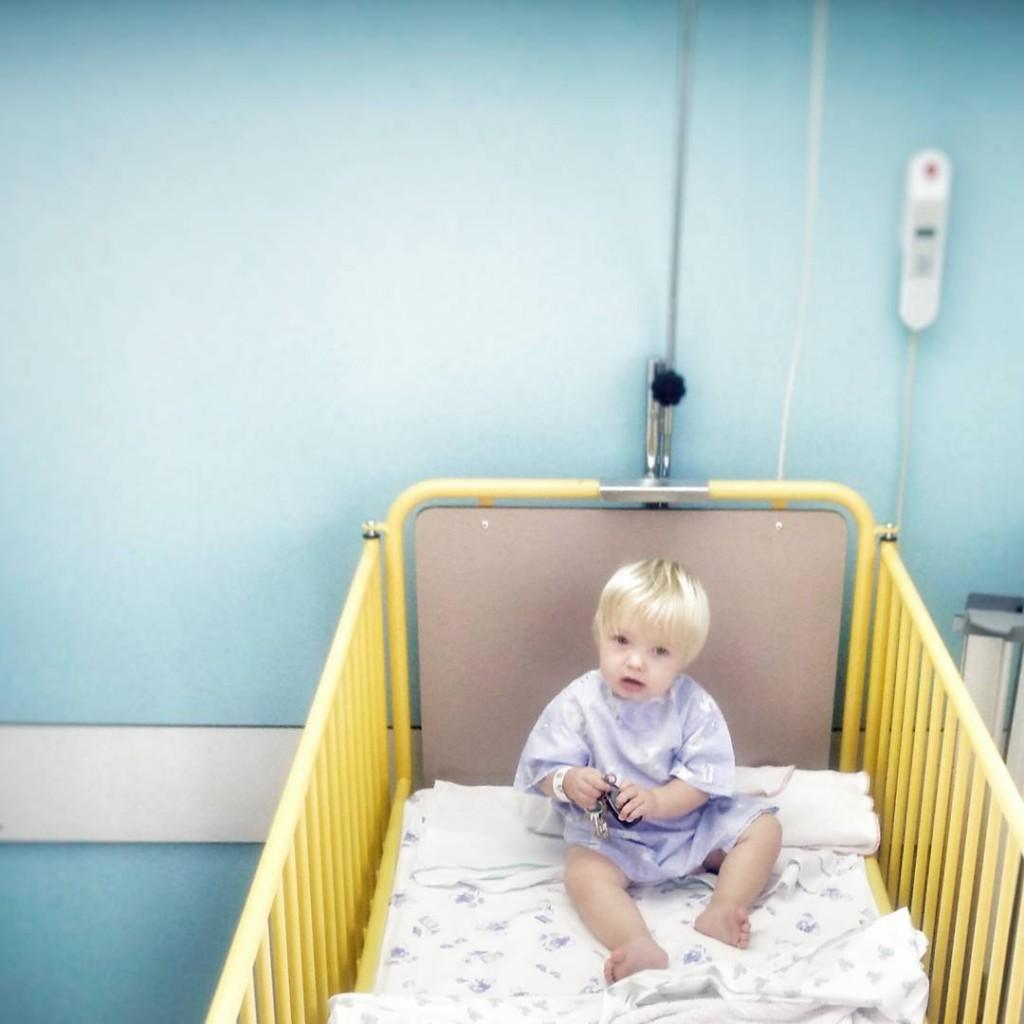 ooperatie aan traanbuisje / traankanaal baby
