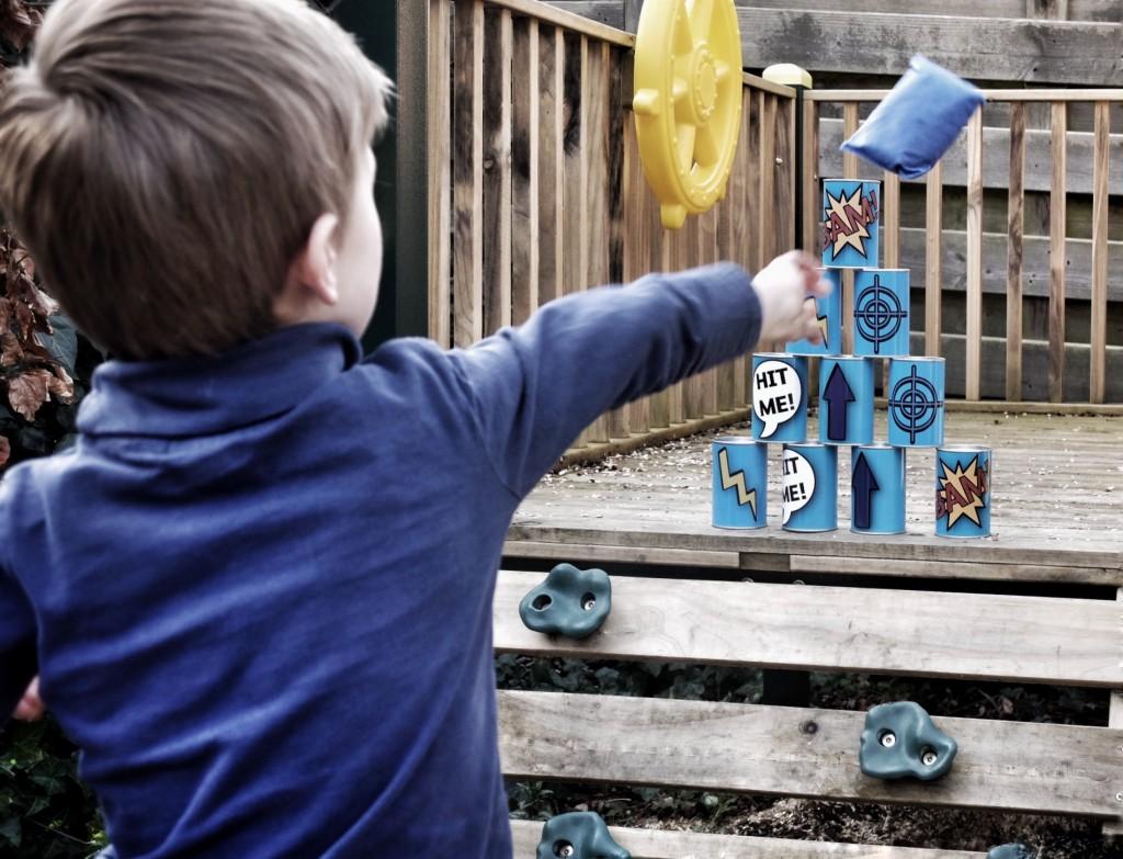buitenactiviteiten met kinderen in de tuin