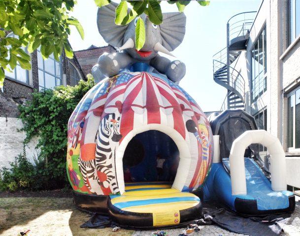 circus springkasteel Eventarent, verjaardagsfeest