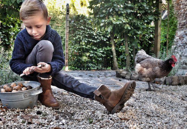 Timberland bruine winterschoen voor kinderen