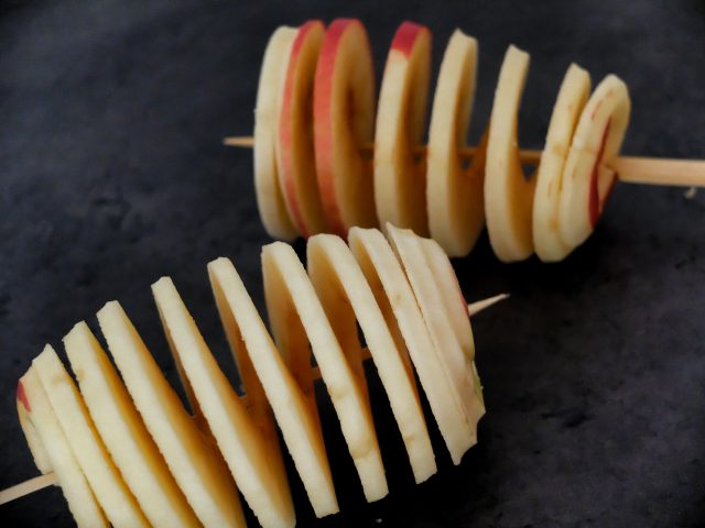 gezonde snack: appel twister recept