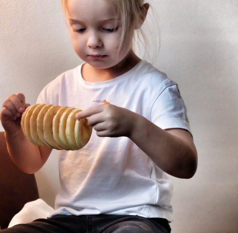 gezonde snack: appeltwister recept