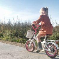 zichtbaar in't verkeer met fiets