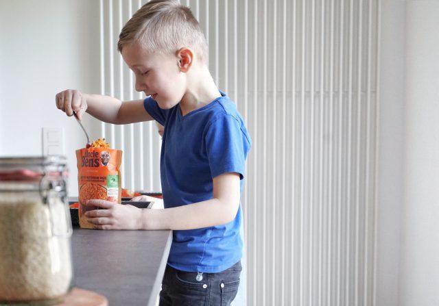 Snel vegetarisch recept Uncle Ben's met kinderen