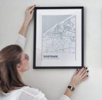 minimalistisch stratenplan poster