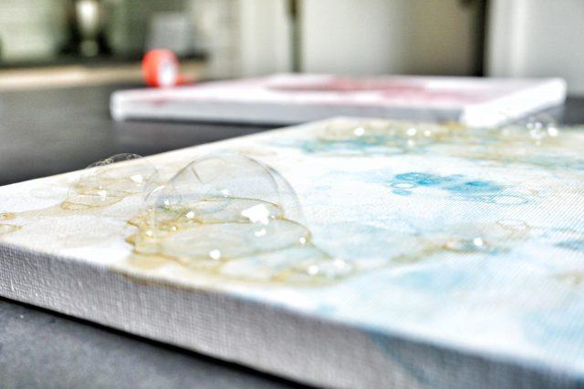 DIY: kunst met zeepbellen en verf