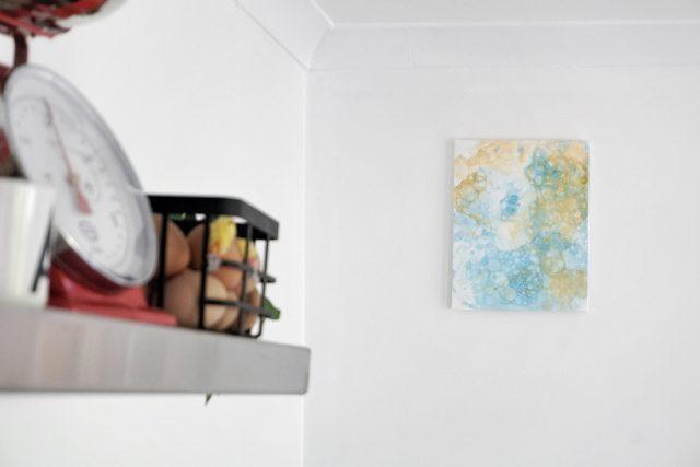 knutselen: schilderen met zeepbellen en verf