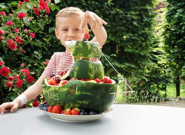 knutselen met watermeloen