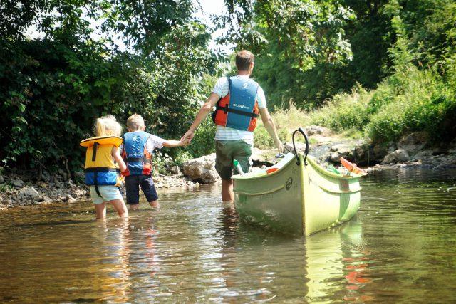 kano varen Frankrijk met kinderen