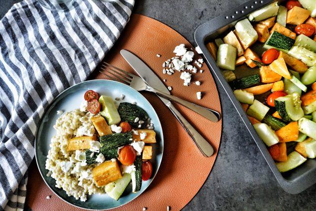 recept parelcouscous met zoete aardappel en feta
