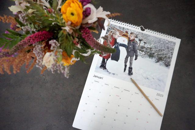 wandkalender met familiefotos