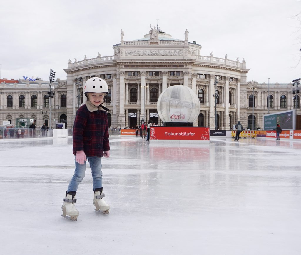 wenen bezoeken in winter met kinderen: schaatspiste