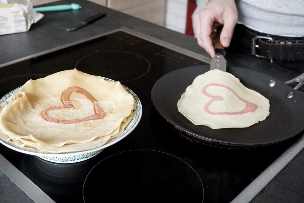 hartjespannenkoek maken voor moederdag of valentijn