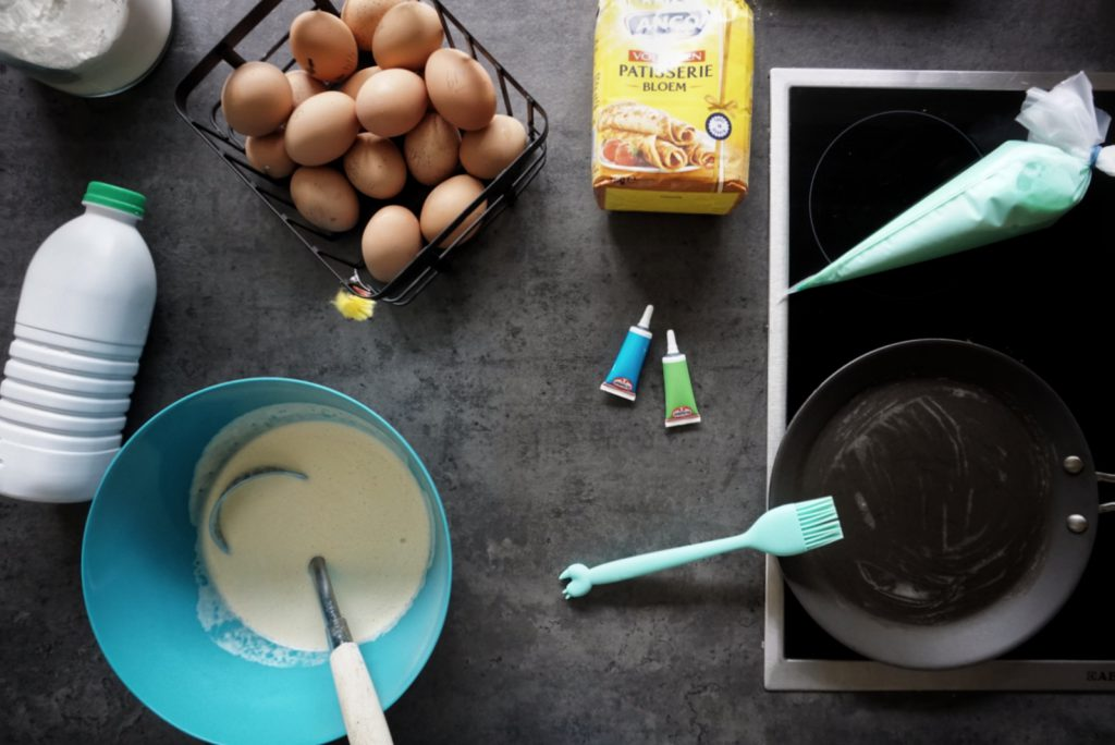 tekening maken in pannenkoek