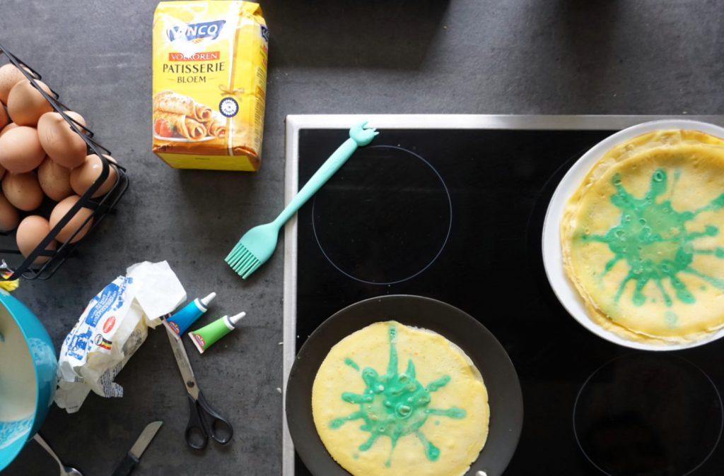 virus corona pannenkoeken maken met kinderen